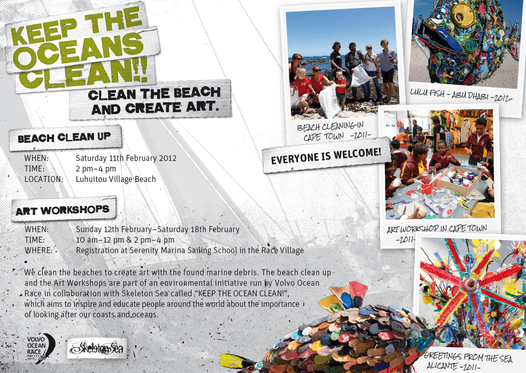 Flyer Beach Cleaning Sanya // Click for Zoom